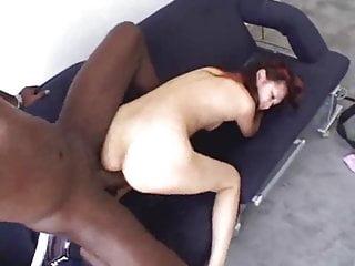 Little Asian taking big black cock