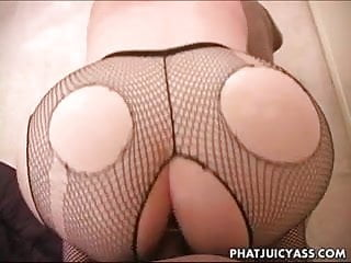 Amy Sucks Cock And Gets Buttfucked Wearing Fishnet Stockings