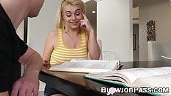 Naughty Nova Kane working on stepbros big POV dong
