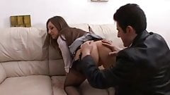 British slut Cate gets fucked in FF stockings