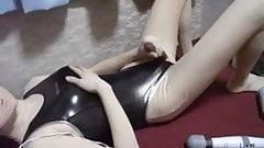 Kigurumi Rubs Vibrator then Jacks Off