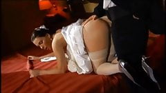 Sexy Jessica Fiorentino Anal In White Stockings