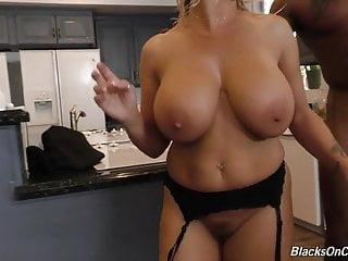 Sexy mature mom Amber fucks black gang