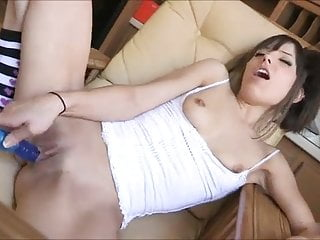 Risi double dildo orgasm