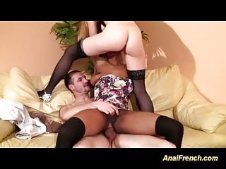 threesome french anal orgy