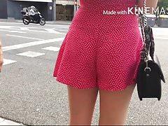 pink dress black thong...
