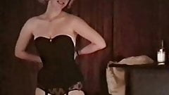 BIG SPENDER - vintage striptease blonde basque lingerie