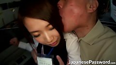 Handsome Japanese slut gets seduces by one horny mature guy