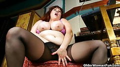 Big titted mature women need some self loving