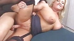 Great blonde milf sucks and fucks.