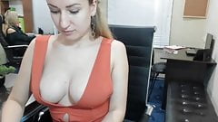 Downblouse In The Office 6