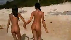 Lesbian Teens Having fun at the Beach