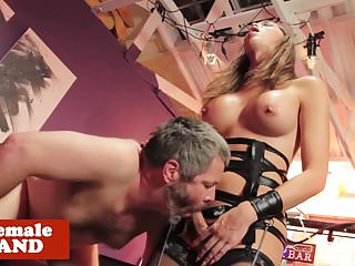 Preview 4 of Dominant bdsm trans queen cums on male face
