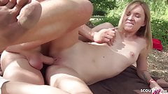 GERMAN SCOUT - BLONDE COLLEGE TEEN SEDUCE TO FUCK PUBLIC