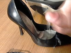 Guess Leather Stilettos Cocked and Cum