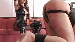 horny slave caught by the mistress