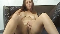 Girls Out West - germany girl fingers her hairy beaver
