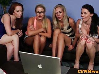 Cfnm group fun with Tasha Holz and pals