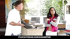 PunishTeens - Naughty Rachael Madori Gets Punished & Gagged