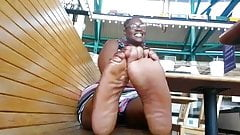 Huge Black Ebony Feet of a nice thick Mississippian Negress