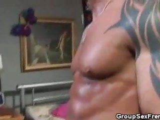 Bedroom Anal Threesome Ends With Facials