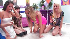Samantha Saint celebrates her birthday with an orgy