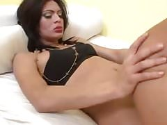 Brunette shemale and girl have sex - aShemaletubecom.mp4
