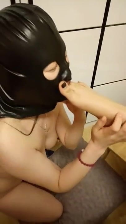 Slave girl Licking Mistress feet