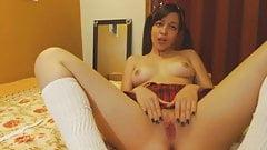 Masturbating Latina