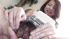 Reira has hairy nooky fucked with finger