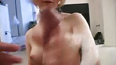 Handjob from slutty amateur blond mom in hot amateur porn 3