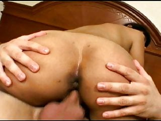 Busty MILF with sexy lips gives head to two cocks then rides dick for a cumload