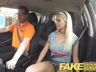 Preview 1 of Fake Driving School Barbie earns her pass with a huge facial