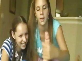 Teen Handjob #10 She brought her Best Friend along to Watch