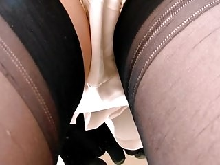 Up A Ladder In Stockings