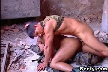 Beefy studs group banging