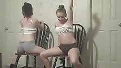 Two Snow Bunnies Dancing Sexy