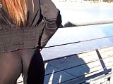 Wow! Hot Latin Ass Girl wearing See-through Pants in public!