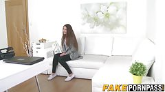 Cute brunette teen Stacey Snake gets the agents hard snake