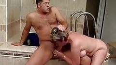 Hot couple in the bathroom