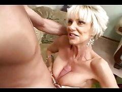 Sexy blonde short haired mature milf fucks hard (MC)