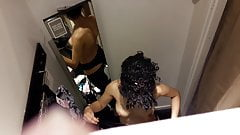 Spying Dressing Room Hot Curls