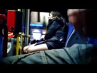 Flasher cums as girls get off bus.flv