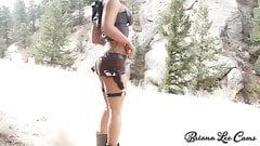Big Tit Cam Girl as Sexy Tomb Raider Lara Croft Cosplay