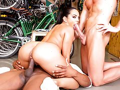 Private.com Interracial trio with Katrina Moreno