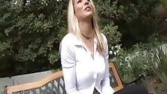 Lots of cum for cum hungry blonde