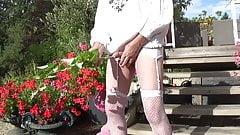 transvestite sissy outdoor sounding urethral lingerie 24 2