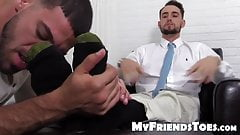 KC likes his feet worshiped and licked