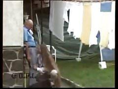 Older guy in a village in France