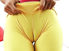 INCREDIBLE ASS and CAMELTOE BRUNETTE in TIGHT SPANDEX's Thumb